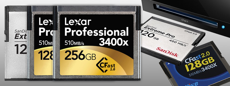 Memory cards CFast